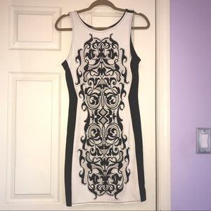 KAii Los Angeles Black and White Beaded Dress